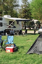 RVs and camping area.